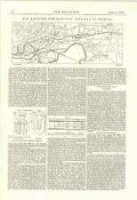 1895 Map Showing Electric Tramway In Bristol New And Old Rails