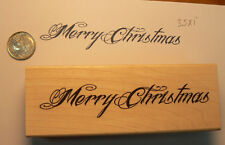 Merry Christmas rubber stamp WM P36