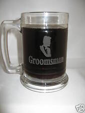 4 personalized drinking glass beer mugs/ENGRAVED/ sport