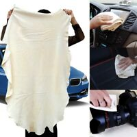 60*90cm Natural Leather Chamois Car Cleaning Towel Super Absorbent Drying Cloths