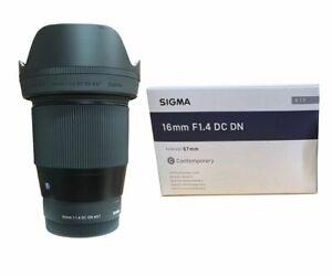 Sigma 16mm f/1.4 DC DN Contemporary Lens Canon EF-M Mount for EOS M Cameras