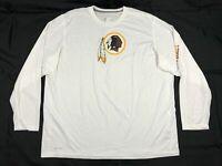 NEW Nike Washington Redskins - Men's White Dri-Fit Long Sleeve Shirt (3XL)