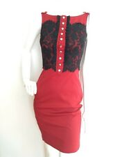 KAREN MILLEN sexy shift dress size 8 --USED ONCE-- lace detail red