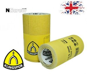 Sanding Rolls 115mm x 4.5m P40-P180 Klingspor Sandpaper Roll