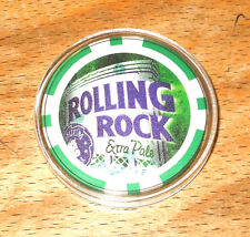 Rolling Rock Extra Pale Poker Chip Golf Ball Marker - Green