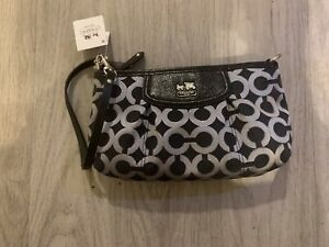 Coach Black And Grey Clutch New With Tags