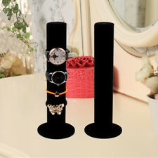New Black Velvet Watch Bangle Bracelet Jewelry Display Stand Holder US SELLER