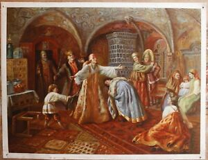 """100% hand-painted Repro old master oil painting on canvas signed 36""""x48"""""""