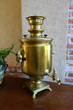 Antique Russian Brass Samovar Signed and Dated 1857 Imperial Water Coffee Tea