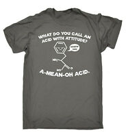 A Mean Oh Acid MENS T-SHIRT tee birthday gift biology chemistry geek nerd funny