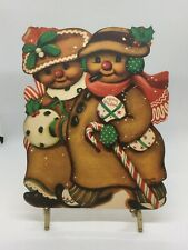 Nos Vintage Die Cut Christmas Gingerbread Couple Decoration Marked Charlot Byi