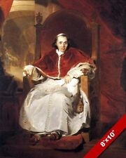 POPE PIUS VII PORTRAIT PAINTING ROMAN CATHOLIC CHURCH ART REAL CANVAS PRINT
