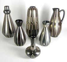 6 Dekorative Keramik vase 60er / 70er Jahre Design Pottery Vases Vintage XXX