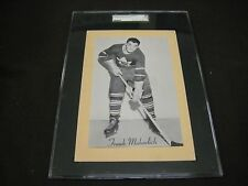 RARE 1945-64 BEEHIVE GROUP 2 LEAFS FRANK MAHOVLICH YELLOW  BACKGROUND SGC GRADED