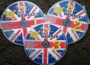 CHARTBUSTER KARAOKE THE BEATLES 3 CDG DISCS 50 SONGS MUSIC CD+G  YELLOW SUB 5132