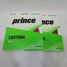 Q0, Qty 2 Prince 1.25 mm Lightning XX 17 Red, Comfort & Power Tennis String
