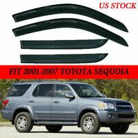 Rain Guard Window Visor Deflector Shade Sun Smoke For 2001-2007 Toyota Sequoia