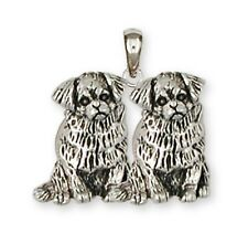 Tibetan Spaniel Pendant Handmade Sterling Silver Dog Jewelry TS3D-P