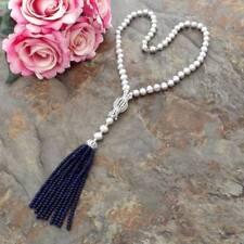 "Jade Gray Pearl 22"" Necklace CZ Pendant"