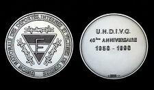 40°ans Union Nationale des Déportés 1958-98. M. de Paris. Argent  86.5g