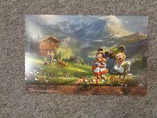 Thomas Kinkade Studio Mickey & Minnie in the Alps Disney