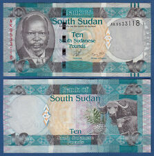 Sur de sudán/southsudan 10 pounds (2011) UNC p. 7