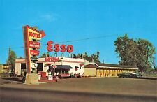 Beauport P.Q. Canada Esso Gas Station Motel Des Boulevards Ste. Anne Postcard