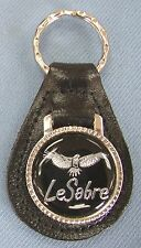 Black Buick LESABRE Eagle Leather Keyring 1978 1979 1980 1981 1982 1983 1984