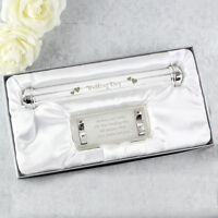Personalised Engraved Wedding Day Certificate Holder - Silver Plated - Gift Box