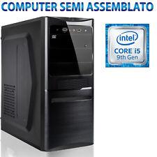 PC COMPUTER DESKTOP SEMI ASSEMBLATO B365M INTEL CORE i5-9400 ALIMENTATORE 500W