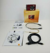 Red Canon PowerShot A3100 IS 12.1MP Digital Camera Lot Bundle With Original Box