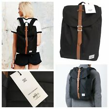 HERSCHEL Supply Co. Post Backpack Black Mid Volume Unisex Rucksack NEW