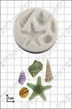 Stampo in Silicone Stella marina & conchiglie Uso Alimentare FPC Sugarcraft