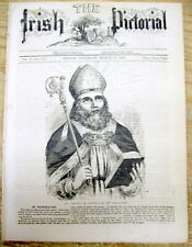 <1860 BOSTON newspaper w SAINT PATRICK'S DAY FRONT-PAGE DISPLAY POSTER Biography