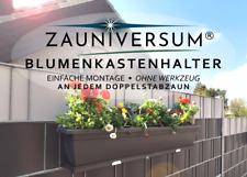 Blumenkastenhalter für Ihren Doppelstabzaun - 1 Paar - ZAUNIVERSUM®