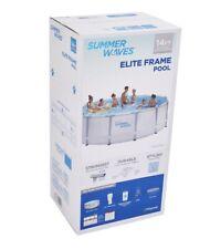 "Summer Waves Elite 14'x42"" Frame Pool with Filter Pump System"