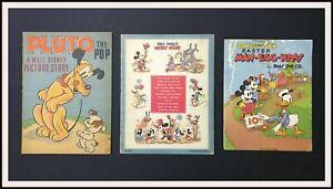 ⭐ 3 DISNEY prewar books Mickey Mouse Donald - Whitman /Paas Die- DISNEYANA.IT ⭐