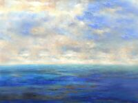 "Very large Painting Original Acrylic on Canvas Ocean Art. by Hunoz 36"" x 48"""