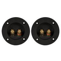 2 Goldwood Sound RGT-5000 Round Power Terminal Plates Speaker Terminals