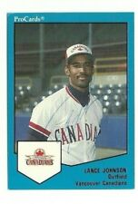 Lance Johnson 1989 ProCards Vancouver Canadians auto autographed signed card