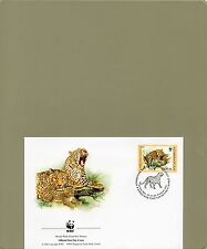 TIMBRE FDC  1 WWF ANIMAUX FELINS / WWF STAMPS FDC ANIMALS FELINES