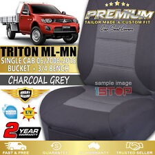 MITSUBISHI TRITON ML-MN SINGLE CAB GREY CUSTOM FIT SEAT COVERS 2006-2015 GL GLX