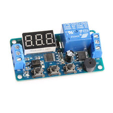 12V LED Display Timer Relay Module Delay Programmable Switch Board Car Buzzer