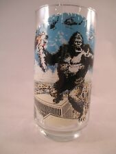 King Kong ~ On The Twin Towers ~ 1976 Vintage Drinking Glass ~ Coca-Cola