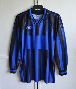 Asics Vintage Retro 90's Football Shirt Soccer Jersey Template #50 Men's Size L