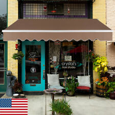 New listing Retractable Motorized Patio Awning Sun Shade Deck 13x8 ft Usa