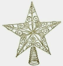 Christmas Tree GOLD STAR Top Topper Feature Christmas Tree Gisela Graham Ornate