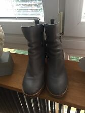 ACNE Cypress Stiefeletten Grau Damen Biker Boots Leder Leather Shoes 40/41