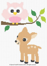 Crochet Patterns - WOODLAND FRIENDS - BABY FAWN and OWL