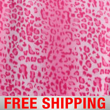 """Pink Leopard Fleece Fabric - 60"""" Wide - Style# PT742 - Free Shipping"""